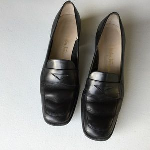Salvatore Ferragamo Black Penny Loafers Size 8.5B